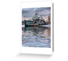 HMS Belfast At Twlight Greeting Card