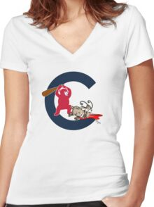 chicago cubs  Women's Fitted V-Neck T-Shirt