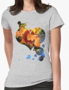 Can you feel the love tonight ? Womens Fitted T-Shirt