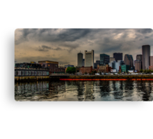 Blue sunrise in Boston, MA Canvas Print