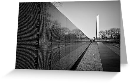 The Vietnam Veterans Memorial, Washington DC by Ilker Goksen