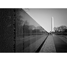 The Vietnam Veterans Memorial, Washington DC Photographic Print