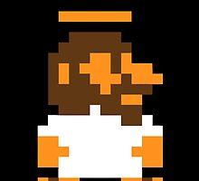 Funny Jesus 8 BIT videogame by coolvintage