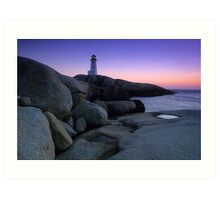 Peggys Cove Lighthouse Art Print