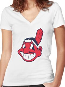 Cleveland Indians Women's Fitted V-Neck T-Shirt