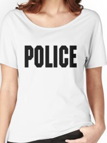 FOO FIGHTERS TAYLOR HAWKINS POLICE TEE (BLACK TEXT) Women's Relaxed Fit T-Shirt