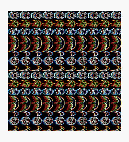 Street Fighter Projectile Tile Photographic Print