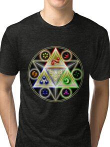 The Legend of Zelda: Ocarina of Time - Spiritual StoneTriforce! Tri-blend T-Shirt