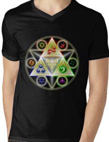 The Legend of Zelda: Ocarina of Time - Spiritual StoneTriforce! Mens V-Neck T-Shirt