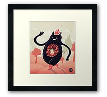 King eats King Framed Print