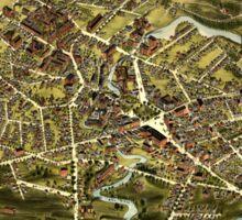 Panoramic Maps City of Taunton Mass 1875 Sticker