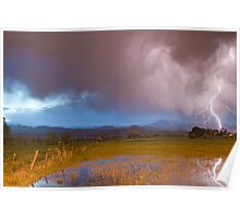 Lightning Striking Longs Peak Foothills 7 Poster
