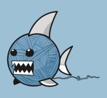 Yarn shark (blue) Kids Tee