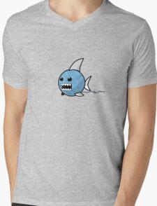 Yarn shark (blue) Mens V-Neck T-Shirt