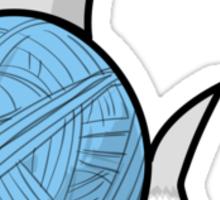 Yarn shark (blue) Sticker