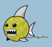 Yarn shark (yellow) Kids Tee