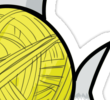Yarn shark (yellow) Sticker