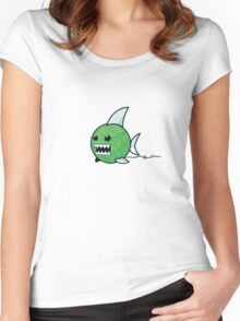 Yarn shark (green) Women's Fitted Scoop T-Shirt