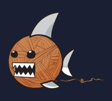 Yarn shark (orange) One Piece - Long Sleeve