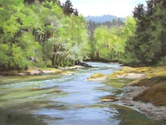 Little River Morning by Karen Ilari