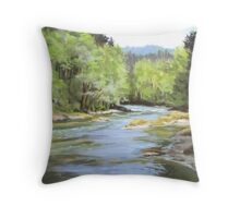 Little River Morning Throw Pillow