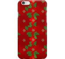 Christmas Flowers iPhone Case/Skin