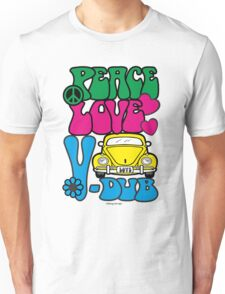 PEACE LOVE V-DUB - BEETLE Unisex T-Shirt
