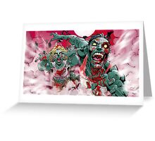 Zombie Run!! Greeting Card