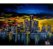 Detroit Skyline Photographic Print