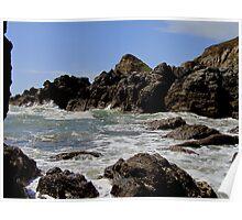 South Devon East Prawle To Gara Rock Wild Sea June 2011 Poster