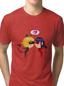 LadyNoir chibi Tri-blend T-Shirt