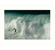 Surfer Ready For The Big Crunch Art Print