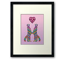 Love pandas Framed Print