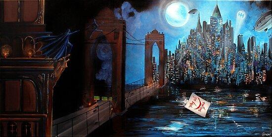 Watching over Gotham by studinano
