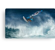 Windsurfing Into The Wind Canvas Print