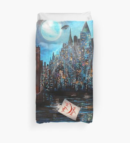 Watching over Gotham Duvet Cover