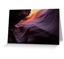 Antelope Canyon Splendor Of The Rock Greeting Card