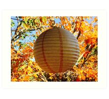Leaves and Lantern Loving Light Art Print