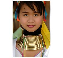 Long Necked Woman Thailand Poster
