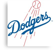 los angels dodgers Canvas Print