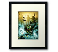 Serious Danger Framed Print