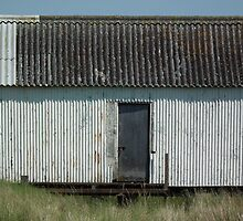 Tin Hut with Corrugated Roof by MyPixx
