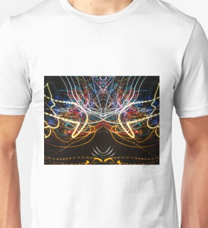 Lightpainting Symmetry Wall Art Print Photograph 1 Unisex T-Shirt
