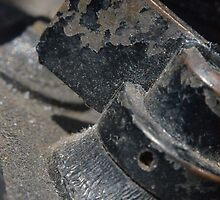 Lens reversal of old camera detail macro shot with ice light 4  by Jason Franklin