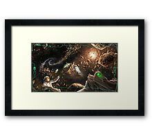 Shattered horizon Framed Print