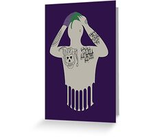 Suicide Squad Joker Greeting Card