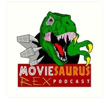 The Moviesaurus Rex Podcast Logo Art Print