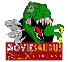 The Moviesaurus Rex Podcast Logo Photographic Print