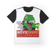 The Moviesaurus Rex Podcast Logo Graphic T-Shirt