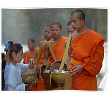Buddhist Monks Laos Poster